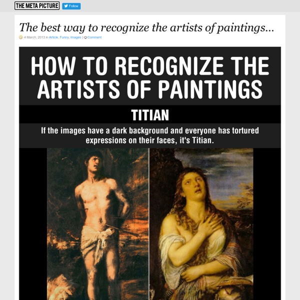 The best way to recognize the artists of paintings