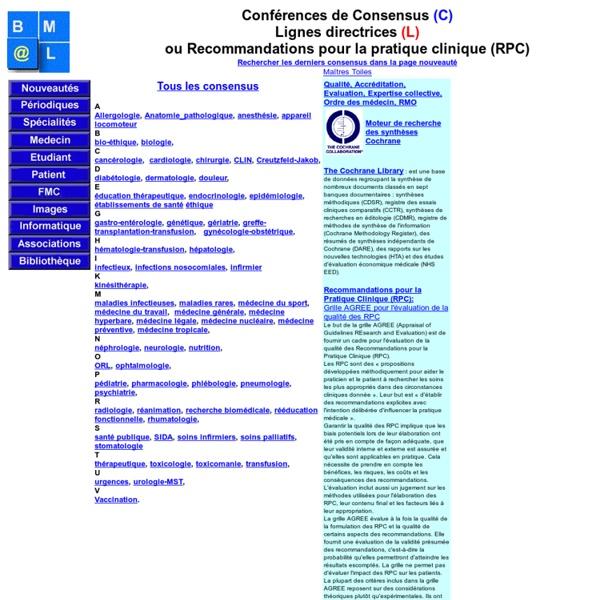 Consensus et recommandations bibliotheque medicale AF Lemanissier
