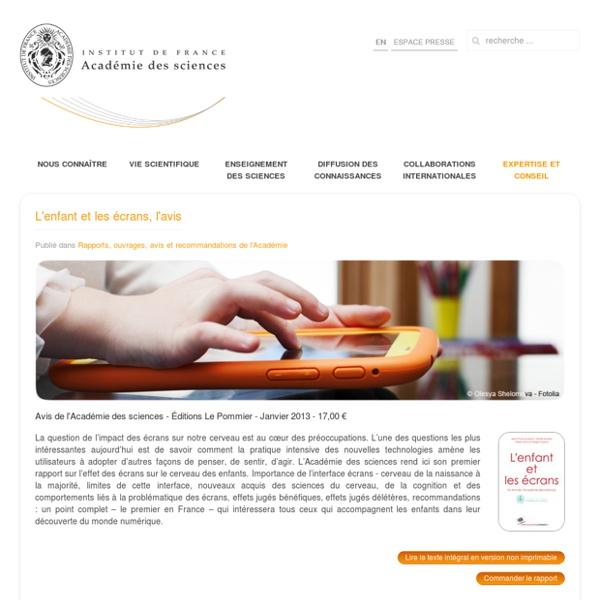 Rapports, ouvrages, avis et recommandations de l'Académie