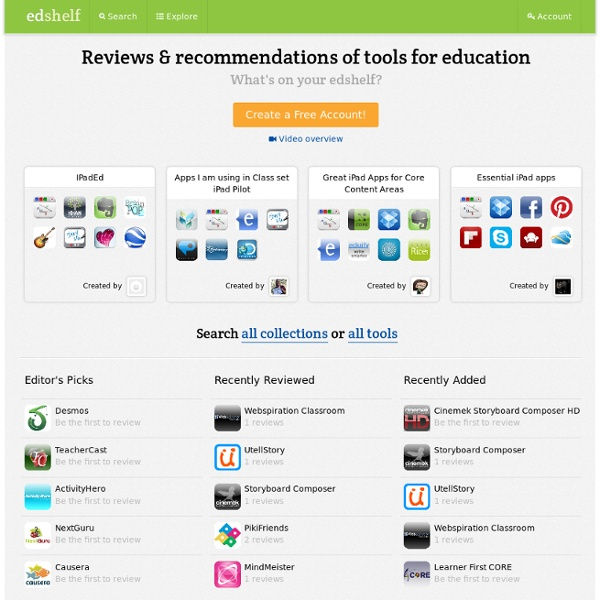 Reviews and recommendations of tools for education