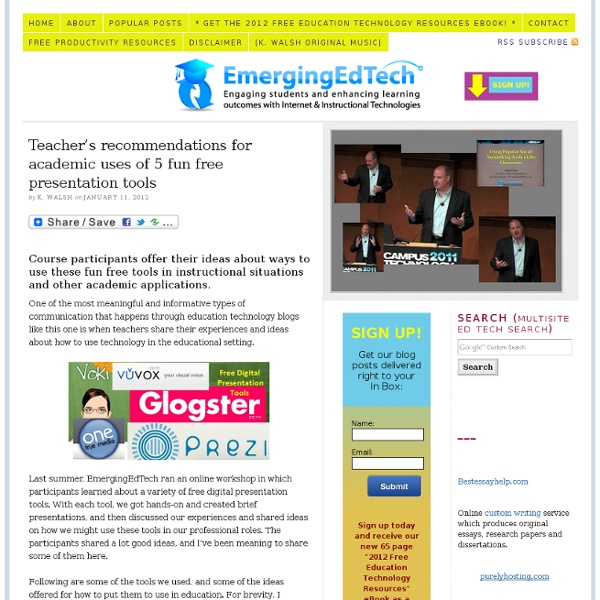 teacher s recommendations for academic uses of 5 fun free
