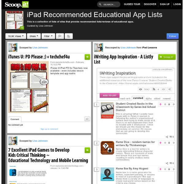 iPad Recommended Educational App Lists