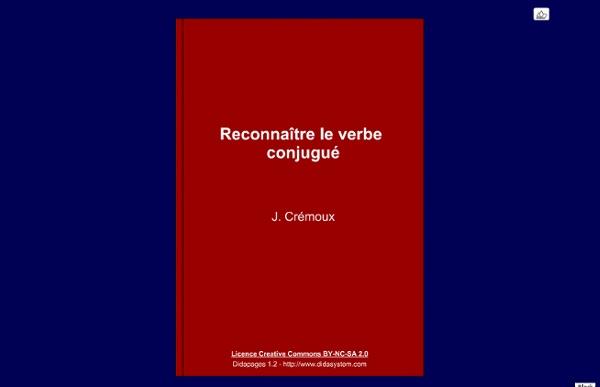 Reconnaître le verbe conjugué