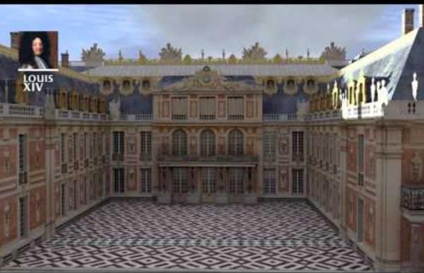 Reconstitution 3D: construction du château de Versailles jusqu'à la révolution française