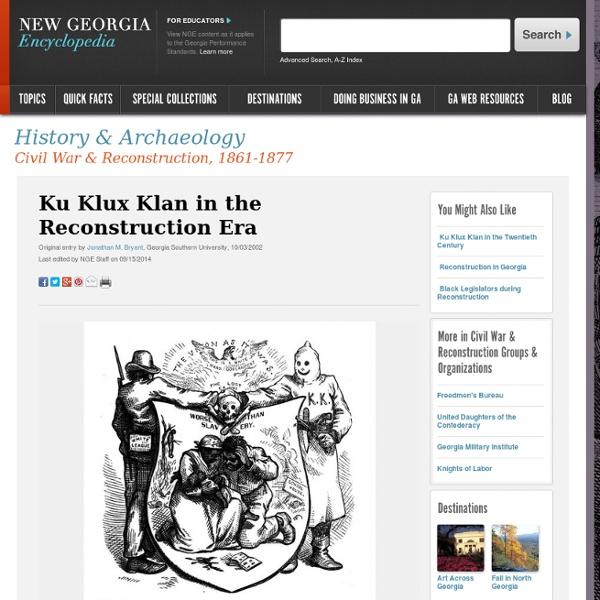 Ku Klux Klan in the Reconstruction Era