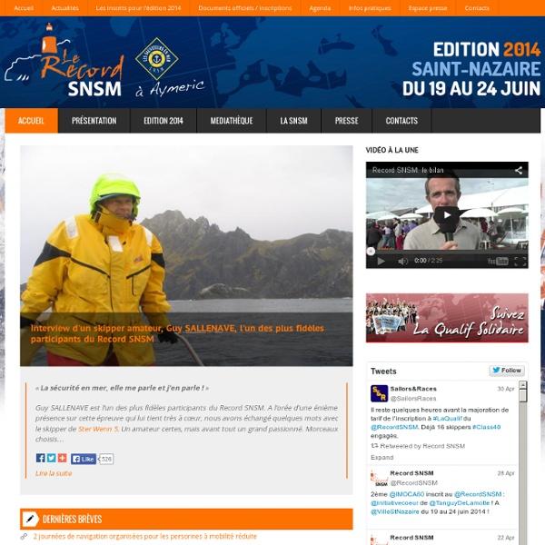 Record SNSM - Course de bateaux à voile