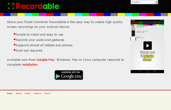 Recordable: easy screen recording on Android, no root required