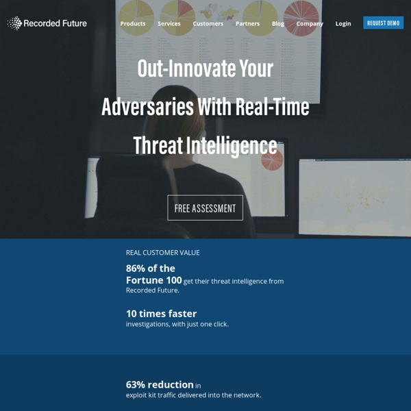 Recorded Future: Real-Time Threat Intelligence