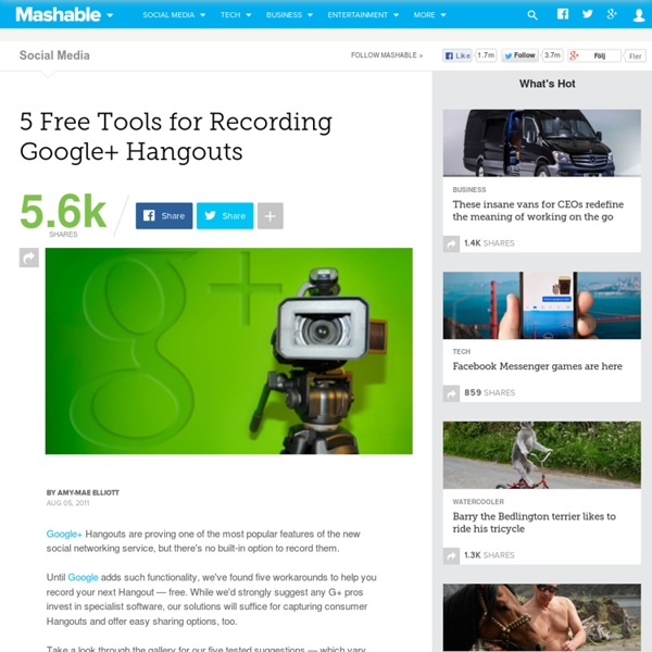 Summify - 5 Free Tools for Recording Google+ Hangouts