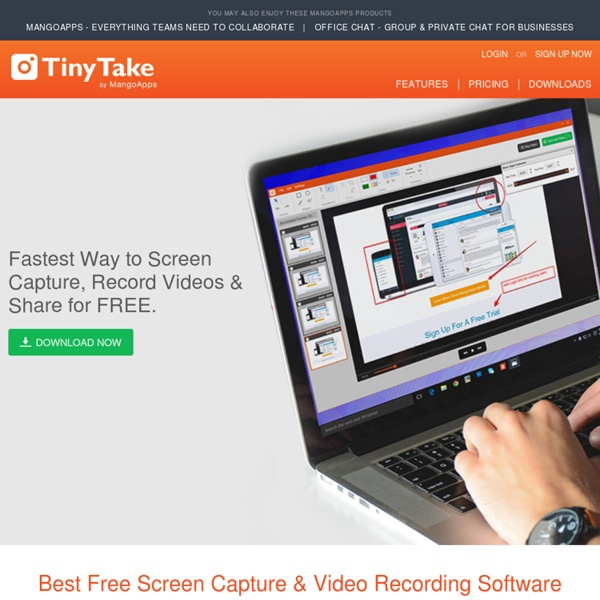 TinyTake - Best Free Windows Screen Capture Software