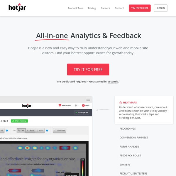 Heatmaps, Visitor Recordings, Conversion Funnels, Form Analytics, Feedback Polls and Surveys in One Platform