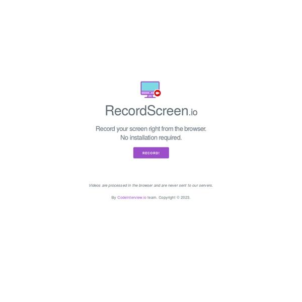 RecordScreen.io - Grabe su pantalla directamente desde el navegador