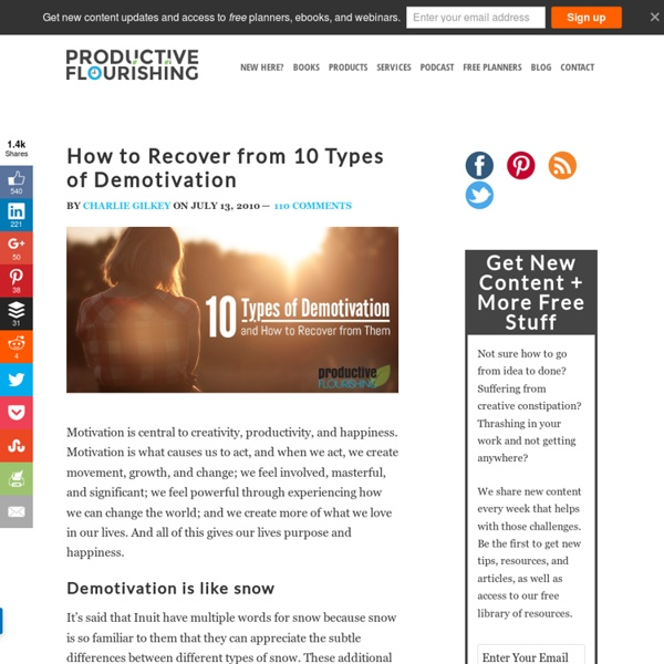 How To Recover From 10 Types of Demotivation