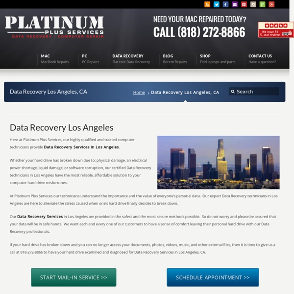 Data Recovery Los Angeles - Hard Drive Recovery Services