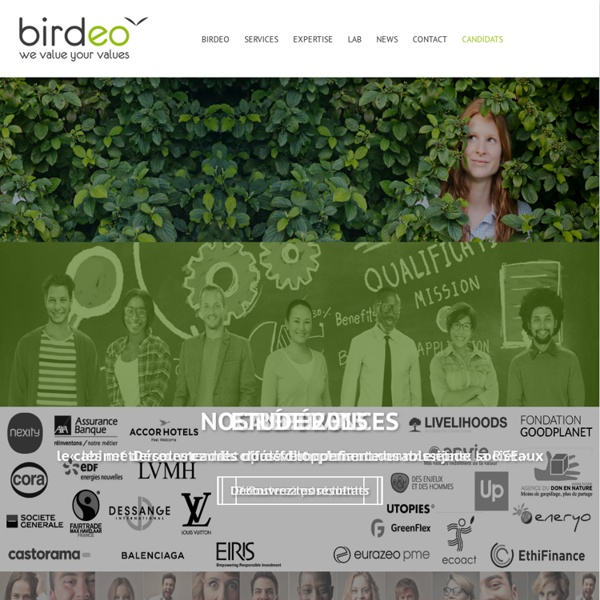 Recrutement européen en CDI et Freelance, spécialiste du Développement DurableBirdeo