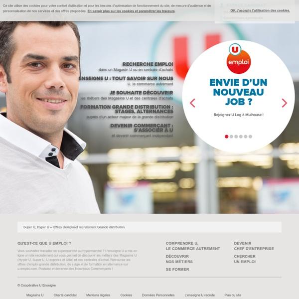 Offres d'emploi grande distribution, supermarché, Super U, Hyper U, Utile