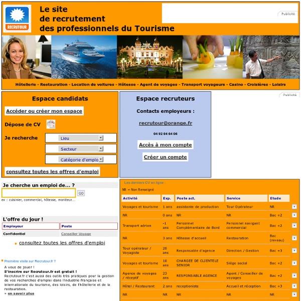 Offres d 39 emploi et recrutement sur internet en for Emploi en restauration