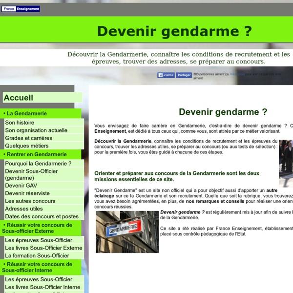 Devenir gendarme et GAV : les recrutements de la Gendarmerie