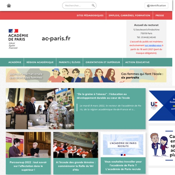 Académie de Paris - Rectorat de Paris - Accueil