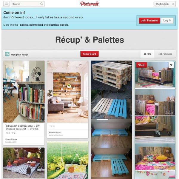 Récup' & Palettes sur Pinterest