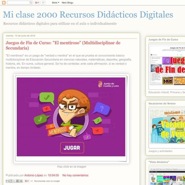 Mi clase 2000 Recursos Didácticos Digitales