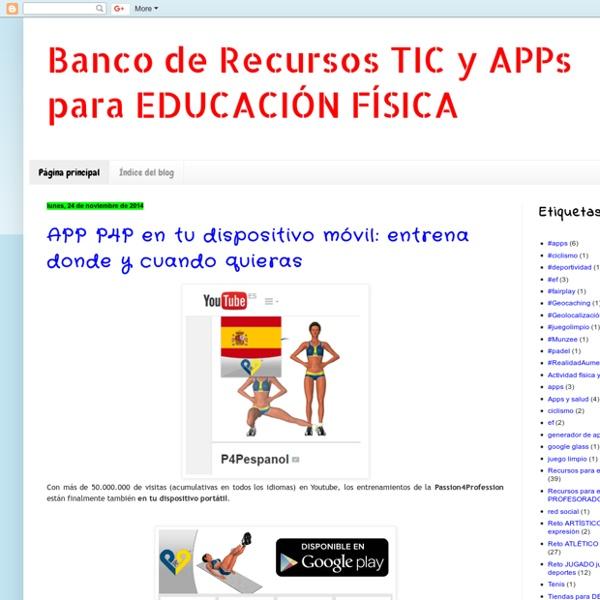 Banco de Recursos TIC y APPs para EDUCACIÓN FÍSICA