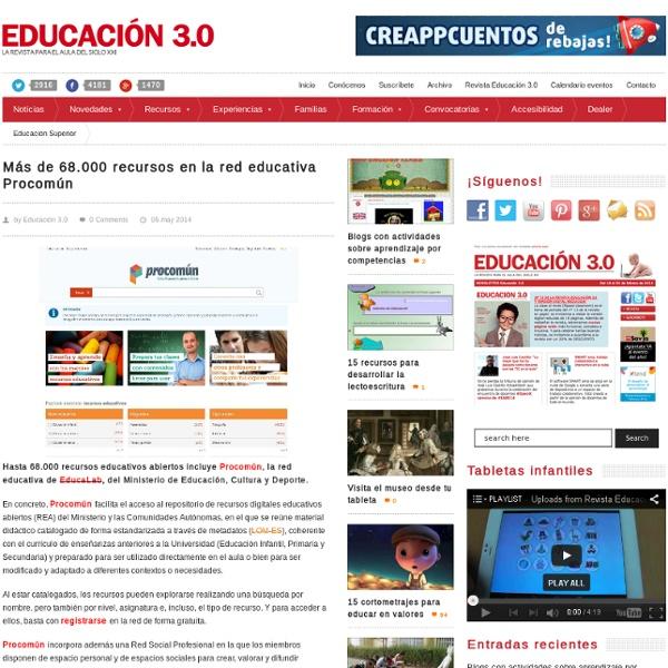 Más de 68.000 recursos en la red educativa Procomún