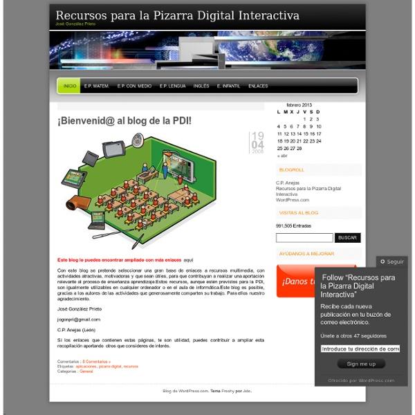 Recursos para la Pizarra Digital Interactiva