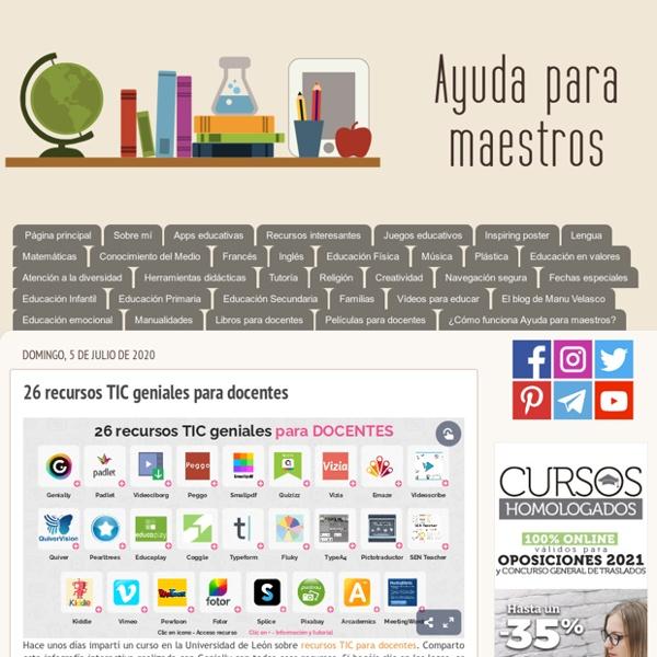 26 recursos TIC geniales para docentes