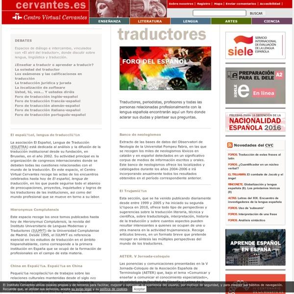 Recursos para traductores (Cervantes)