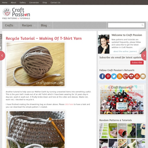 Recycle Tutorial – Making Of T-Shirt Yarn