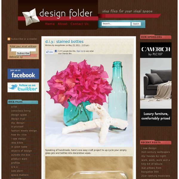 Design Folder: Your Online Design and Decorating Resource