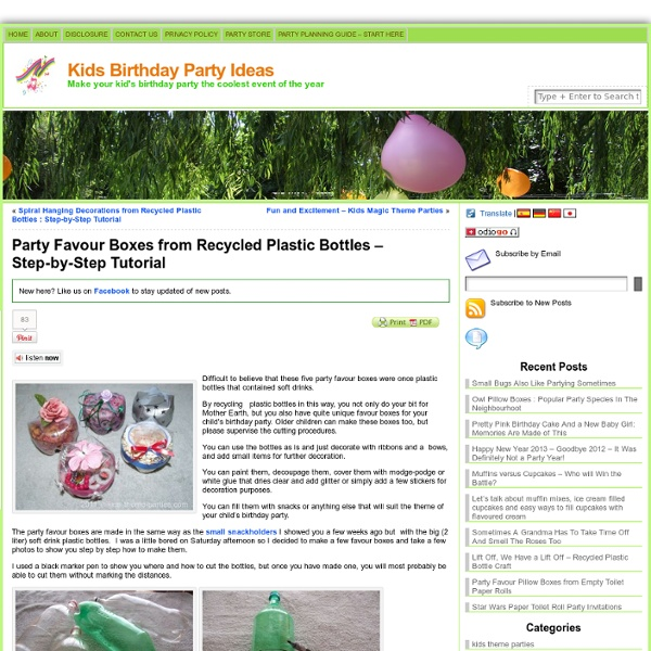 Party Favour Boxes From Plastic Bottles – Step-by-Step Tutorial