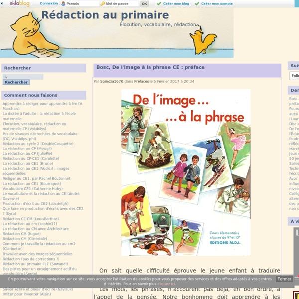 Rédaction au primaire - Élocution, vocabulaire, rédaction