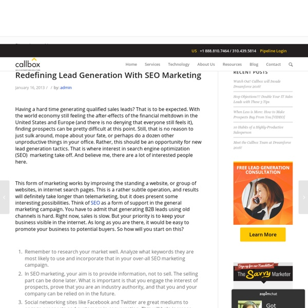 Redefining Lead Generation With SEO Marketing - B2B Lead Generation Company Malaysia