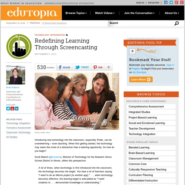 Redefining Learning Through Screencasting