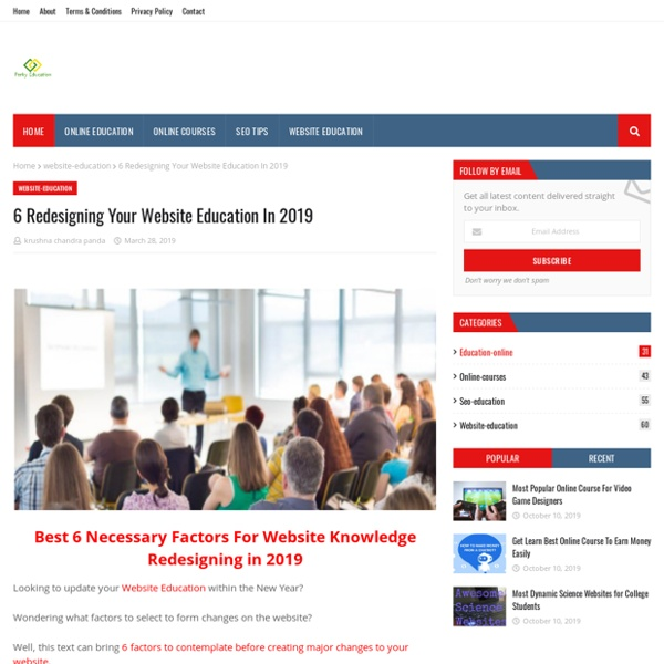 6 Redesigning Your Website Education In 2019