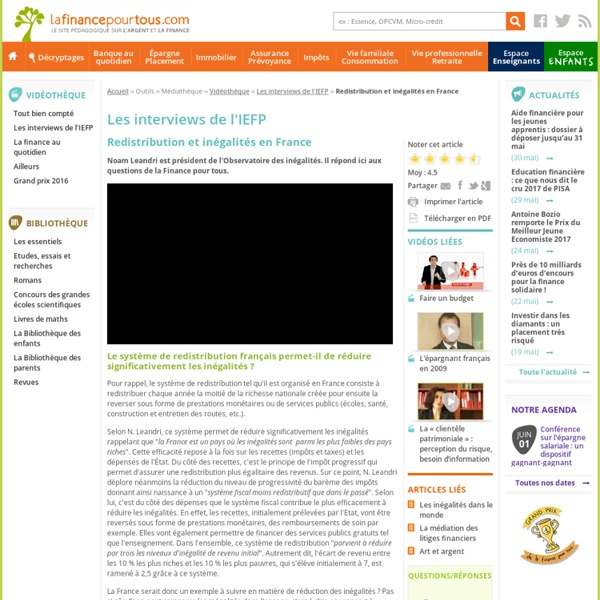 Redistribution et inégalités en France