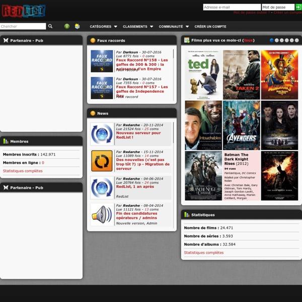 RedList - Réseau social de partage