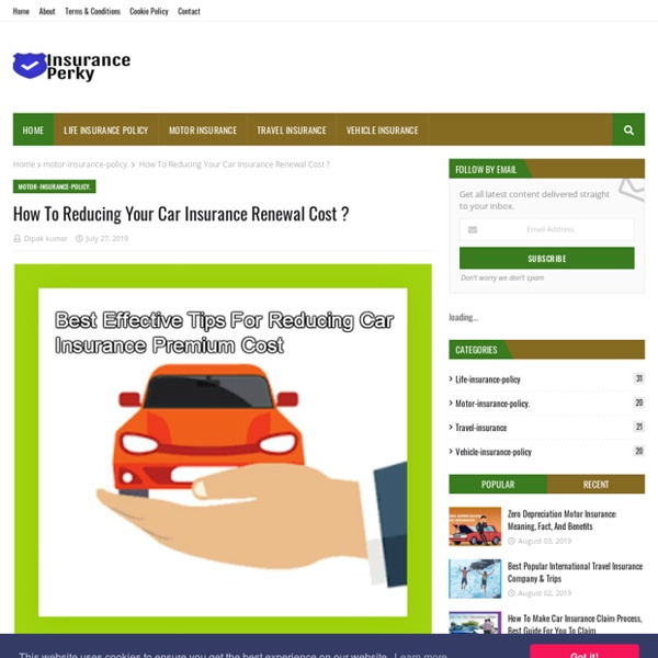 How To Reducing Your Car Insurance Renewal Cost ?
