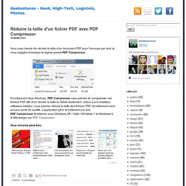 Réduire la taille d'un fichier PDF avec PDF Compressor