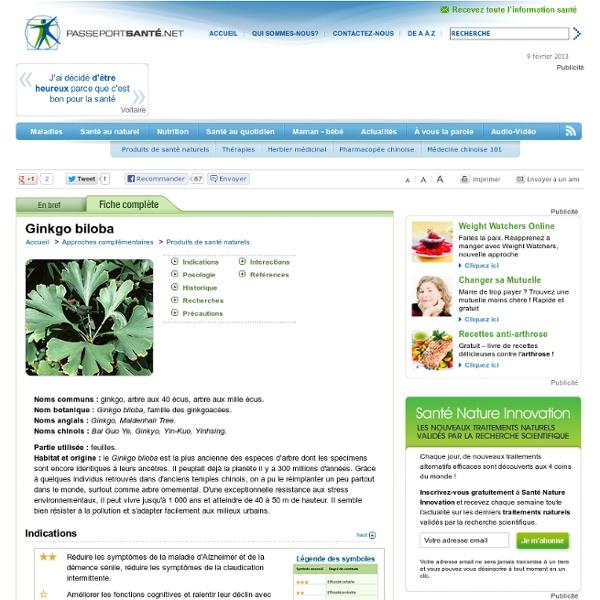 Le ginkgo biloba pour réduire les symptômes de la maladie d'Alzheimer