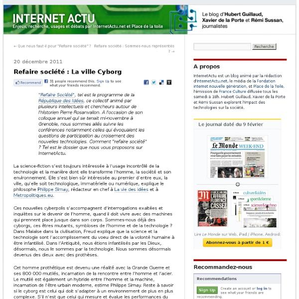 Refaire société : La ville Cyborg