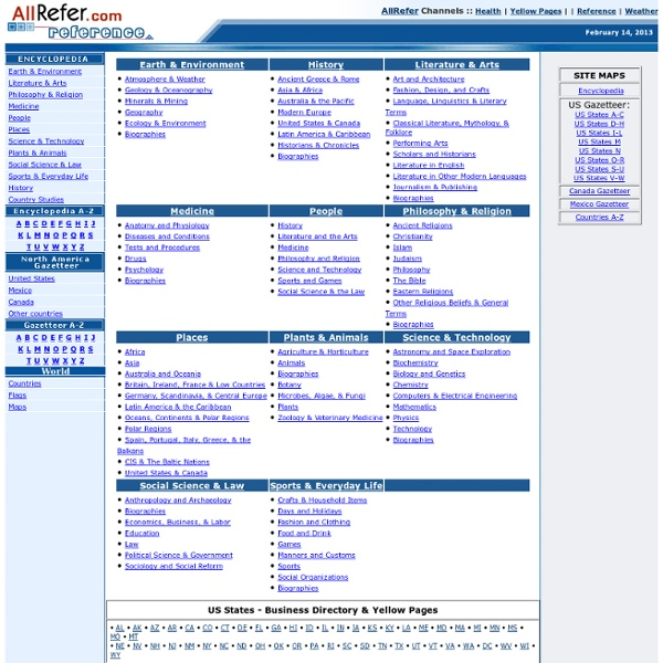 AllRefer Reference & Encyclopedia Resource
