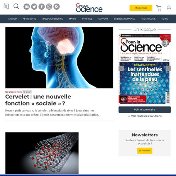 Pour la science : l'actu scientifique