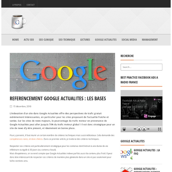 Référencement Google Actualités : les bases