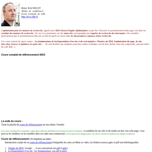 ABC du réferencement - Cours et formations sur le référencement de sites web