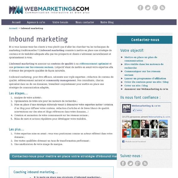 Inbound marketing : référencement, contenu et community management