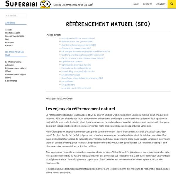 Référencement naturel (SEO) pour les nuls