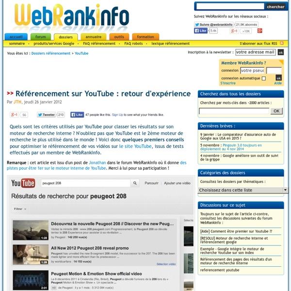 Comment être premier sur YouTube (référencement moteur de recherche interne)